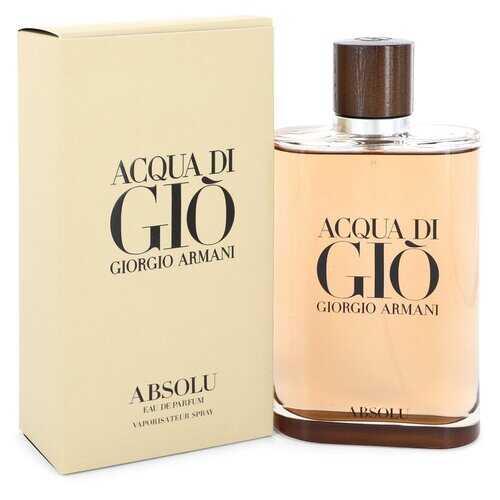 Acqua Di Gio Absolu by Giorgio Armani Eau De Parfum Spray 6.7 oz (Men)