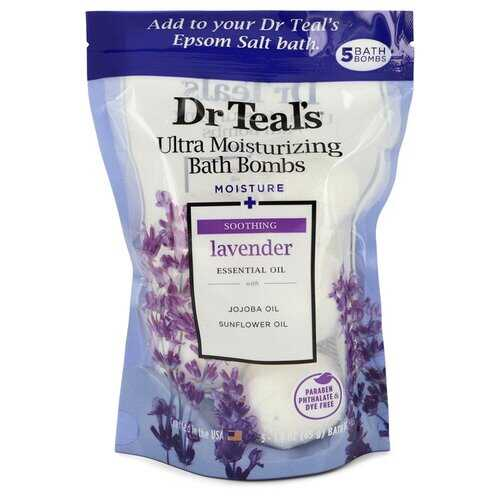 Dr Teal's Ultra Moisturizing Bath Bombs by Dr Teal's Five (5) 1.6 oz Kids Bath Time Fizzie Fun Scented Bath Bombs Coconut Cove with Natural Essential Oils (Unisex) 1.6 oz (Men)