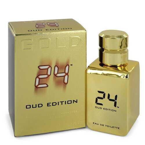 24 Gold Oud Edition by ScentStory Eau De Toilette Concentree Spray (Unisex) 1.7 oz (Men)