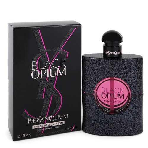 Black Opium by Yves Saint Laurent Eau De Parfum Neon Spray 2.5 oz (Women)