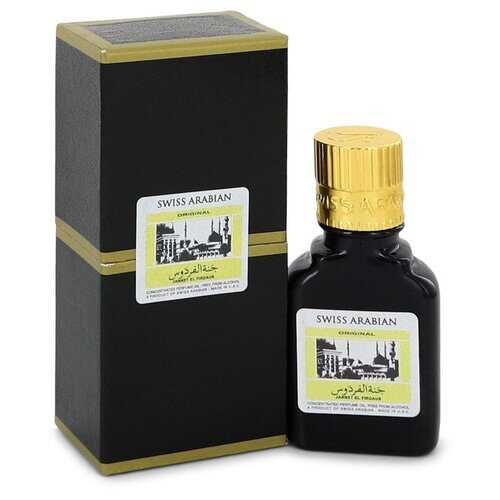 Jannet El Firdaus by Swiss Arabian Concentrated Perfume Oil Free From Alcohol (Unisex Black Edition Floral Attar) .30 oz (Men)