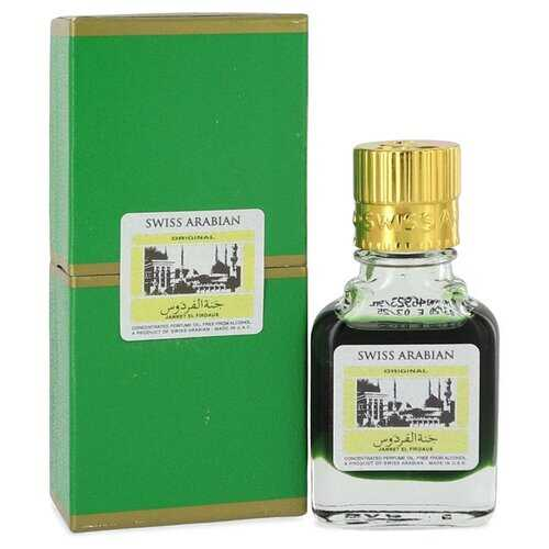 Jannet El Firdaus by Swiss Arabian Concentrated Perfume Oil Free From Alcohol (Unisex Green Attar) .30 oz (Men)