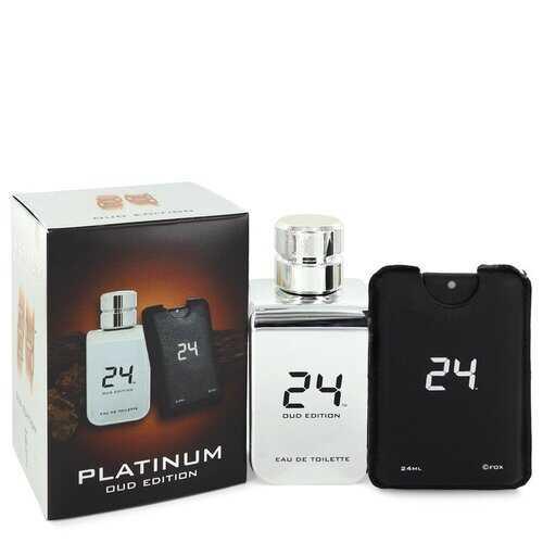24 Platinum Oud Edition by ScentStory Eau De Toilette Concentree Spray + 0.8 oz {Pocket Spray (Unisex) 3.4 oz 3.4 oz Eau De Toilette Concentree Spray + 0.8 oz Pocket Spray (Unisex) (Men)