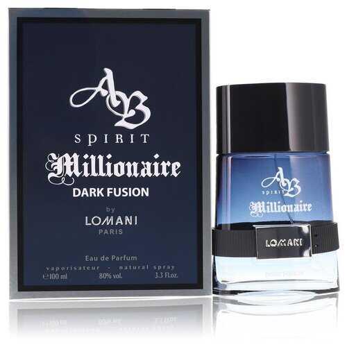 Spirit Millionaire Dark Fusion by Lomani Eau De Parfum Spray 3.3 oz (Men)