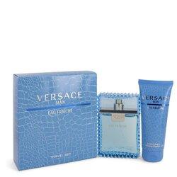 Versace Man by Versace Gift Set -- 3.3 oz Eau De Toilette Spray (Eau Frachie) + 3.3 oz Shower Gel (Men)