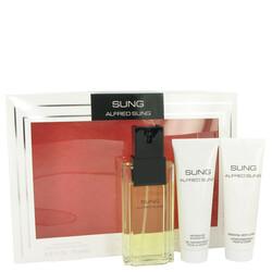 Alfred SUNG by Alfred Sung Gift Set -- 3.4 oz Eau De Toilette Spray + 2.5 oz Body Lotion + 2.5 oz Shower Gel (Women)