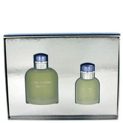Light Blue by Dolce & Gabbana Gift Set -- 4.2 oz Eau De Toilette Spray + 1.3 oz Eau De Toilette Spray (Men)