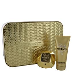 Lady Million by Paco Rabanne Gift Set -- 2.7 oz Eau De Parfum Spray + 3.4 oz Body Lotion (Women)