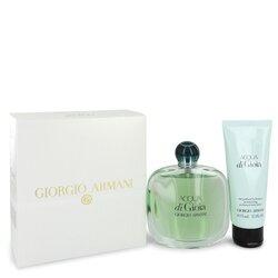 Acqua Di Gioia by Giorgio Armani Gift Set -- 3.4 oz Eau De Parfum Spray + 2.5 oz Body Lotion (Women)