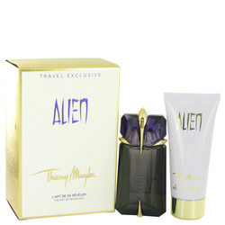 Alien by Thierry Mugler Gift Set -- 2 oz Eau De Parfum Spray Refillable + 3.4 oz Body Lotion (Women)