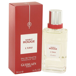 Habit Rouge L'eau by Guerlain Eau De Toilette Spray 1.6 oz (Men)