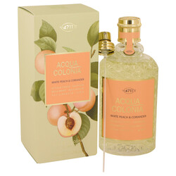 4711 Acqua Colonia White Peach & Coriander by Maurer & Wirtz Eau De Cologne Spray (Unisex) 5.7 oz (Women)