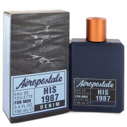 Aeropostale His 1987 Denim by Aeropostale Eau De Toilette Spray 3.4 oz (Men)