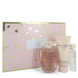 Le Parfum Elie Saab Rose Couture by Elie Saab Gift Set -- 3 oz Eau De Toilette Spray + 0.33 Mini EDT Spray + 2.5 oz Body Lotion (Women)