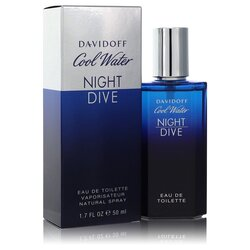 Cool Water Night Dive by Davidoff Eau De Toilette Spray 1.7 oz (Men)