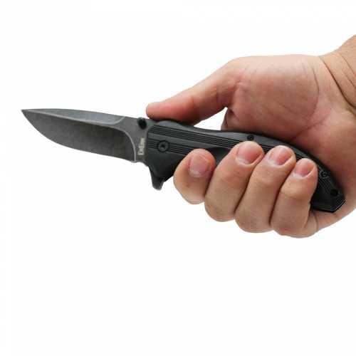 Folding Stainless Steel Knife BLACK