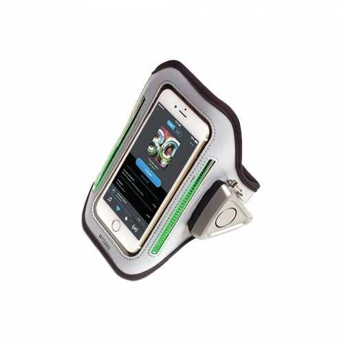 MYGUARD SPORT LED Armband & Safety Alarm w/Phone Holder