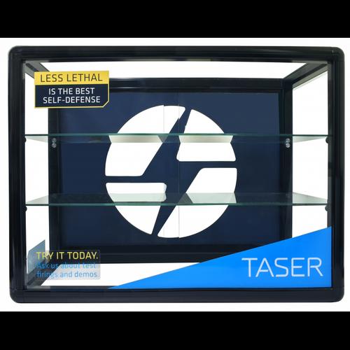 Taser Lockable Glass Display Case
