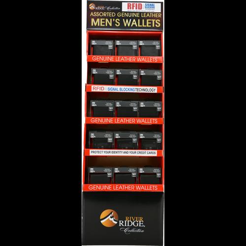 60 Piece Assorted Wallet Floor Display