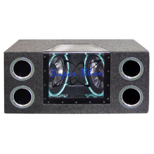 Dual 10 Inch 1000 Watt Bandpass Speaker System w/Neon Accent Lighting