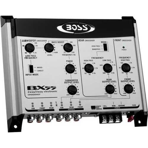 BOSS Audio Systems BX55 2 3 Way Pre-Amp Car Electronic Crossover with Remote Subwoofer Control