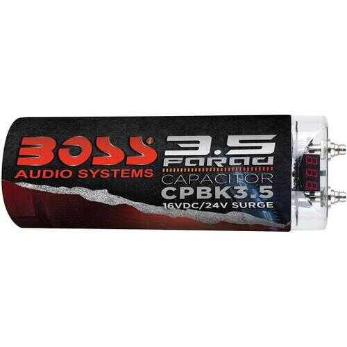 Boss 3.5 Farad Capacitor Black Finish