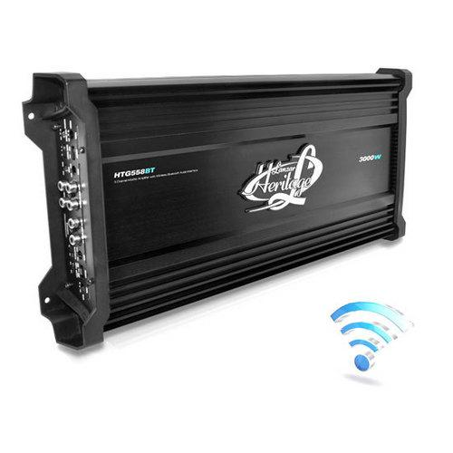 3000 Watt 5-Channel Mosfet Amplifier with Wireless Bluetooth Audio Interface