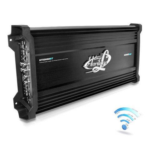 4000 Watt 6 Channel Mosfet Amplifier with Wireless Bluetooth Audio Interface