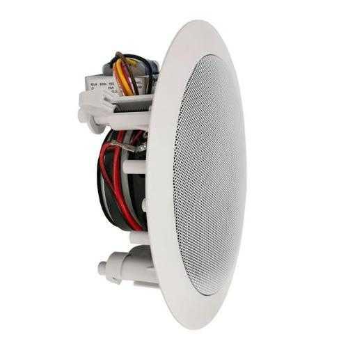 5.25'' In-Wall / In-Ceiling 70V Speaker - Flush Mount Low-Profile Speaker with 70 Volt Transformer (300 Watt)