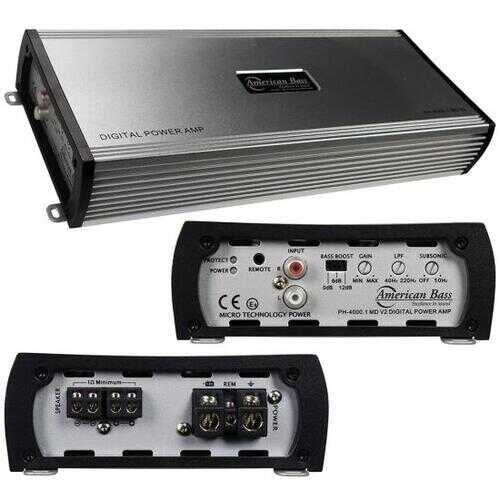 American Bass PH40001MDV 4000W Max Monoblock Class D Car Amplifier