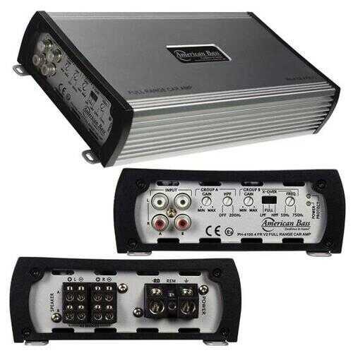 American Bass 480 Watts Class A/B 4 Channel Car Amplifier PH4100FRV2