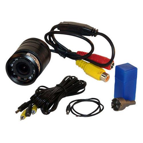 Flush Mount Rear View Backup Parking Reverse Assist Camera, Night Vision LEDs, Built-in Distance Scale Lines, Waterproof