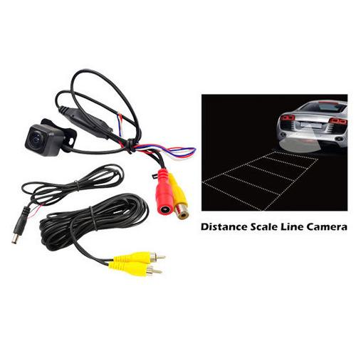 Rearview Backup Parking/Reverse Camera, Distance Scale Line Display, Waterproof, Night Vision, Angle Adjustable, Universal Hanging Mount, (Front/Rear Vehicle Mountable)