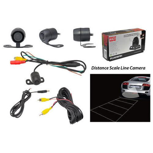 Rearview Backup Parking/Reverse Camera, Distance Scale Line Display, Waterproof, Night Vision, Universal Mount (Front/Rear Vehicle Mounting - Flush or Hanging Mount)