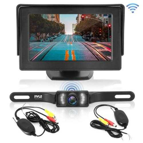 2.4Ghz Backup Camera & Video Monitor System with Wireless Video Transmission, Waterproof Rated Cam, Night Vision, 4.3'' -inch Display