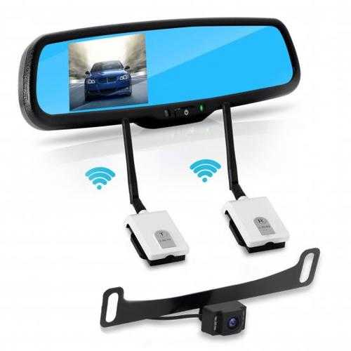2.4Ghz Rearview Mirror Monitor & Backup Camera System with Wireless Video Transmission, 4.3'' -inch Display Screen
