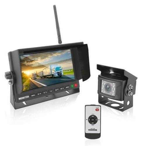 2.4Ghz Vehicle Camera & Video Monitor System with Wireless Video Transmission, Waterproof Rated Cam, Night Vision, 7 -inch Display (for Bus, Truck, Trailer, Van)