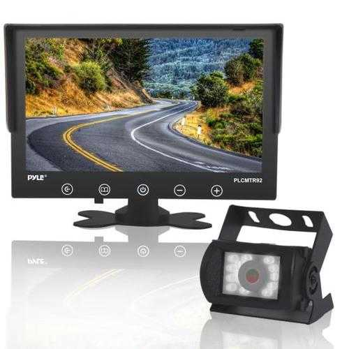 Waterproof Rated Backup Camera & Monitor System - with 9'' Display Monitor (DC 12-24V for Bus, Truck, Trailer, Van)