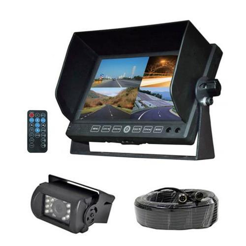 DVR Video Camera HD Recording Driving System, 7'' Display Monitor, Waterproof Night Vision Cam, Backup/Reverse Visual Assistance Kit (12/24V for Bus, Truck, Trailer, Van, RV, Camper)