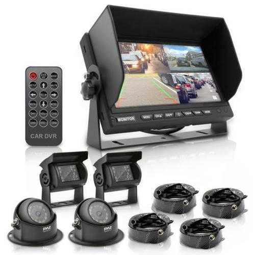 """Rear View / Backup Camera Systems with 7"""" -inch Display Monitor (with Quad View, 4-Cam Video Support)"""