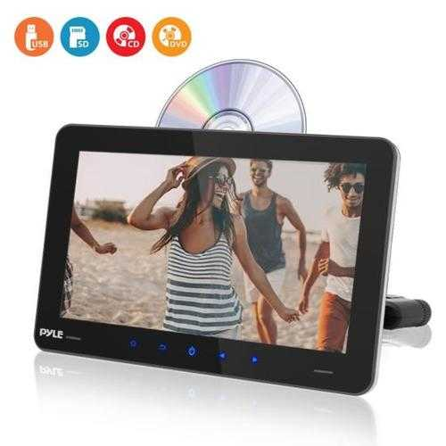 Touchscreen CD/DVD Player - Vehicle Headrest Mount Multimedia Entertainment System (9.4 -inch Display)