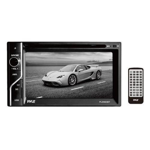 6.5'' Double DIN In-Dash Touch Screen TFT/LCD Monitor w/Multimedia Disc/CD/MP3/MP4/CD-R/USB/Micro SD Card Slot, AM/FM, Bluetooth Receiver