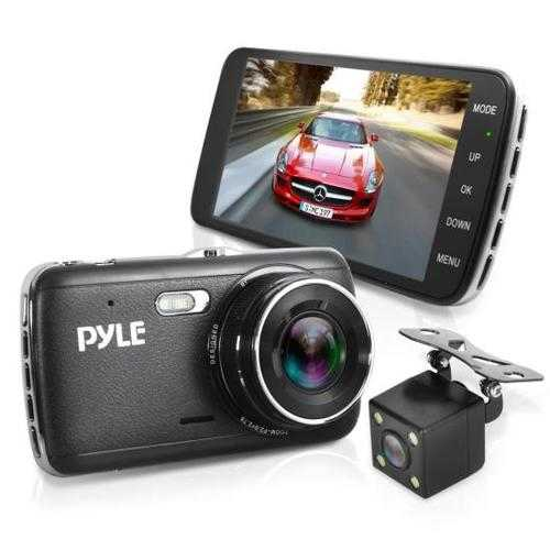 Vehicle DVR Dash Cam Kit - Dual Camera Video Recording System with Full HD 1080p