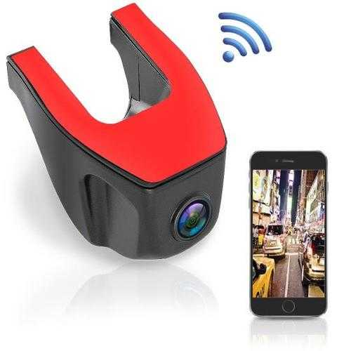 Compact WiFi Dash Cam - 1080p HD Windshield Video Recording Camera with Smartphone App Control