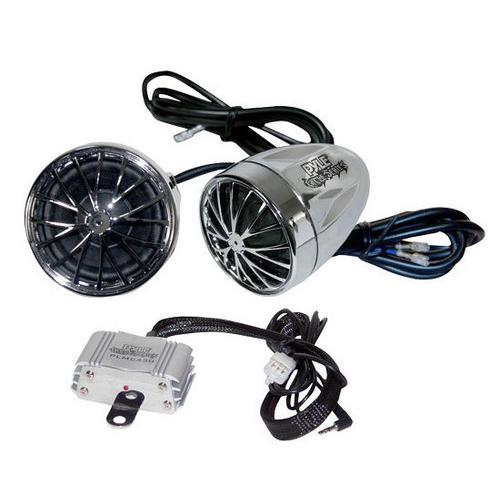 400 Watts Motorcycle/ATV/Snowmobile Mount Amplifier w/Dual handle-bar Mount Weatherproof speakers w/MP3/Ipod Input