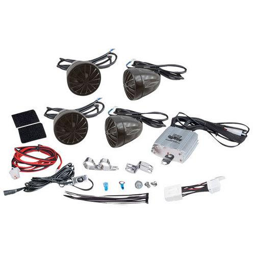 800 Watt Weatherproof Motorcycle/ATV/Snowmobile Amplifier System w/Dual Handle-Bar Mount, Speakers & iPod/MP3 Input