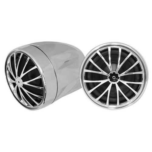400 Watts Motorcycle/ATV/Snowmobile Mount w/Dual handle-bar Mount Weatherproof 2.25'' Speakers