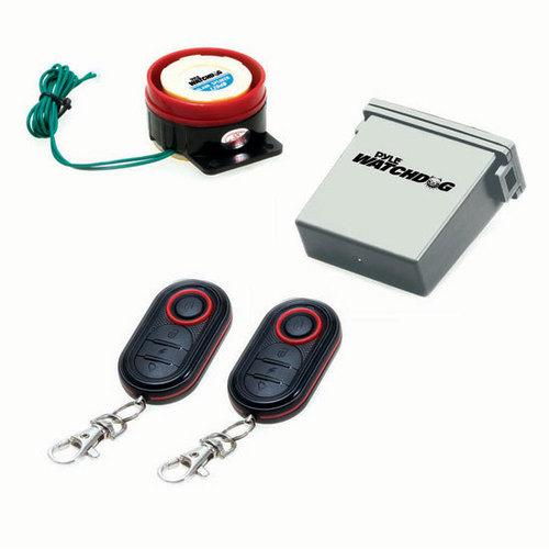 Watch Dog Motorcycle Vehicle Alarm Security System, Remote Auto-Start, Includes (2) ECU Control Transmitters, Anti-Hijack Engine Immobilization, High-Power Piezo Speaker