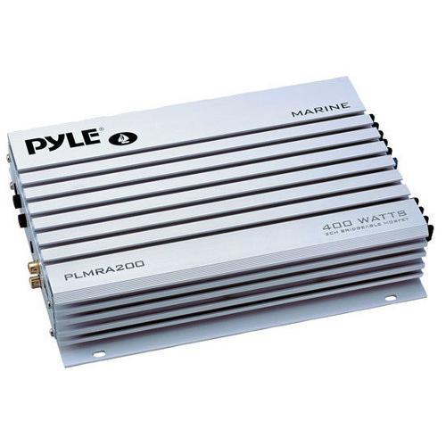 Elite Series Waterproof Amplifier, Bridgeable 400 Watt 2-Channel Amp