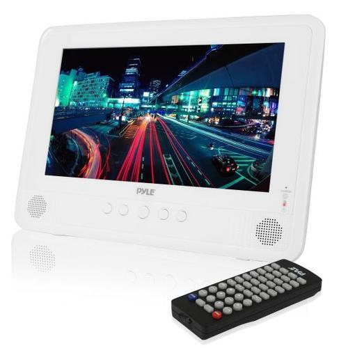 Water Resistant & Weather-Proof 10 Portable CD/DVD Player, Built-in Rechargeable Battery, USB/SD Readers